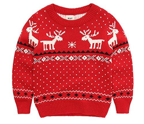 MULLSAN Children's Fireplace Lovely Sweater Christmas Best Gift (4T, Red2) -