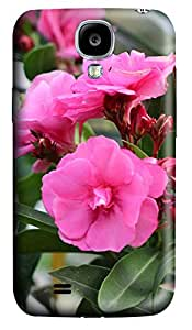 Samsung Galaxy S4 I9500 Case,Samsung Galaxy S4 I9500 Cases - Pink oleander Custom Design Samsung Galaxy S4 I9500 Case Cover - Polycarbonate