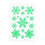 Tinksky 3 Sheets Christmas Temporary Tattoos Glow in the Dark Snowflakes Stickers