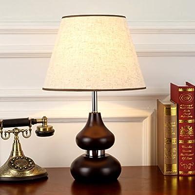 Zfggd Lámpara de mesa Clásico chino Retro Lámpara de escritorio de ...
