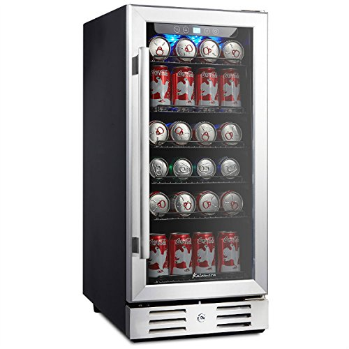 "Undercounter Wine Cabinet (Kalamera 15"" Beverage cooler 96 can built-in Single Zone Touch Control)"