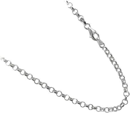 """100/% Plata Esterlina 925 Cord Estilo 20 /"""" 1mm Collar Cadena"""