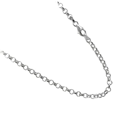 necklace silver sterling rolo belcher ebay chains chain bhp rollo