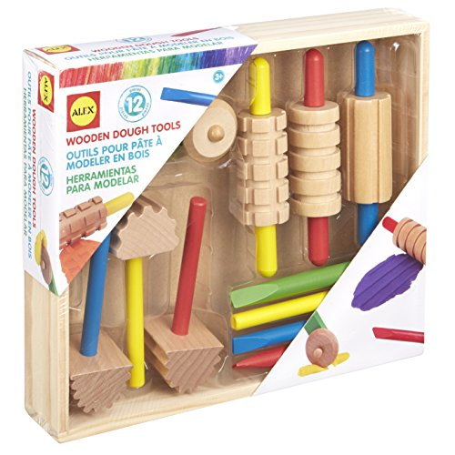 ALEX Toys Art Wooden Dough Tools Set]()