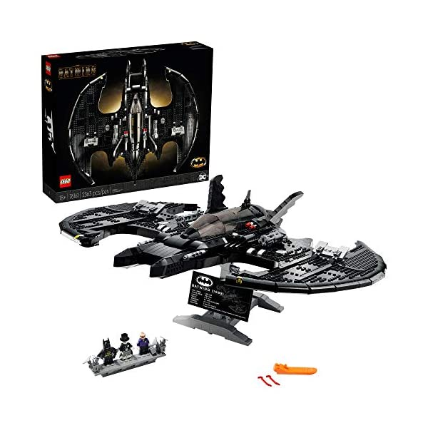 LEGO DC Batman 1989 Batwing 76161 Displayable Model with a Buildable Vehicle and Collectible Figures: Batman, The Joker…