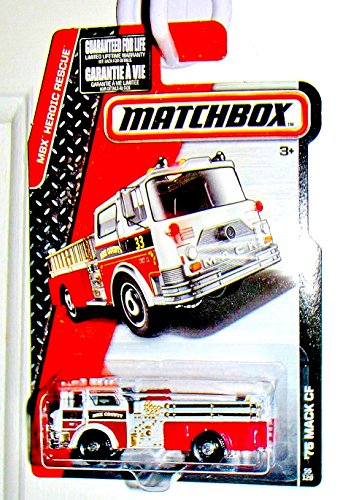 Matchbox Heroic Rescue Engine White