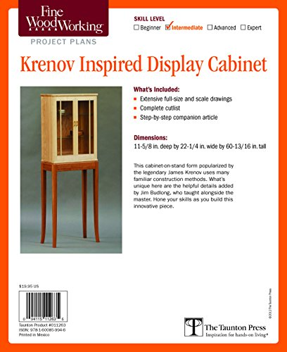 Fine Woodworking's Krenov Inspired Display Cabinet Plan (Plans Display Cabinet)