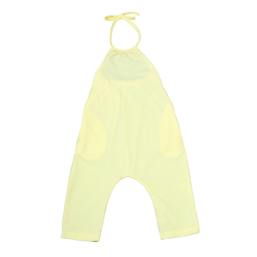 oldeagle Toddler Kid Baby Girls Straps Sleeveless Romper One-Piece Pants Bodysuit Jumpsuit Outfits (Yellow, 18M) by oldeagle (Image #1)