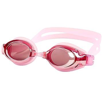 JI Bin Shop® Lunettes De Natation Rose Femme Grand Cadre Myopie Lunettes HD  Miroir sous d4e878036631