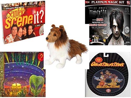 Children's Gift Bundle - Ages 6-12 [5 Piece] - Scene It? DVD Game - Seinfeld Edition - Criss Angel Platinum Magic Kit Toy - Whispy Sheltie 16