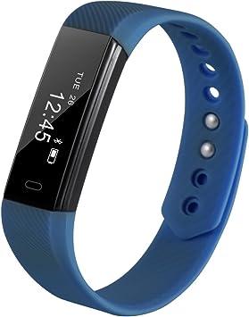 Pulsera actividad Inteligente, OLED Bluetooth 4.0 Deporte Actividad Tracker con Contador de Calorias/Monitor de Sueño/Contador de Pasos/Reloj/Impermeable IP67, Compatible con iOS, Android Smartphone: Amazon.es: Electrónica