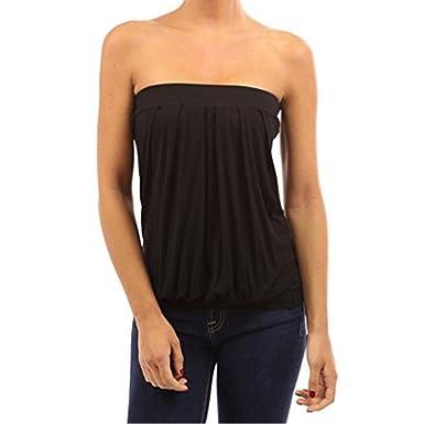 4172c067975 Westeng Tube Top Women Ladies Strapless Shirt Beach Casual Shirt Stretch  Blouse Slim Vest