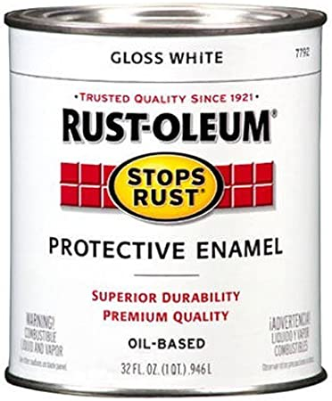 Rust Oleum 7792504 Protective Enamel Paint Stops Rust 32 Ounce Gloss White