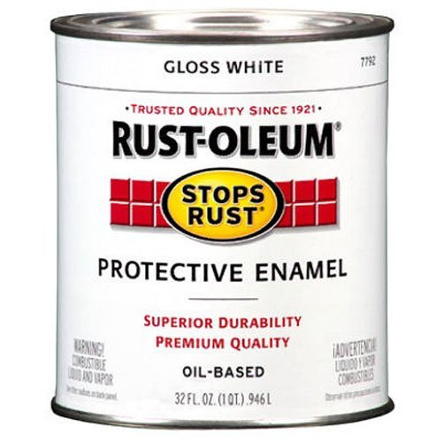 Rust-Oleum 7792504 Protective Enamel Paint Stops Rust, 32-Ounce, Gloss White (Oil Gloss Based)