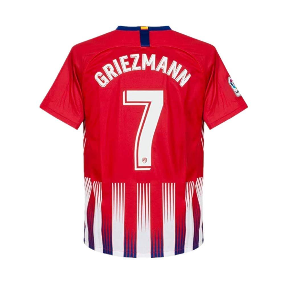 1611b09d93eda Amazon.com  Zymenjs Atletico Madrid  7 Griezmann 2018-2019 Season Home  Soccer Jersey Mens Color Red  Clothing