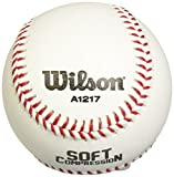 Wilson A1217 Soft Compression Baseball (12-Pack), 9 - Inch ,White