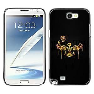 Be Good Phone Accessory // Dura Cáscara cubierta Protectora Caso Carcasa Funda de Protección para Samsung Note 2 N7100 // Phoenix Bird Skeleton Skull