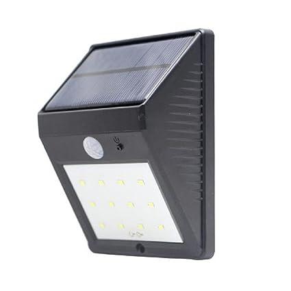 Solar luces, rcool 12LED Sensor de movimiento luz Solar energía Solar Powered Seguridad Luz brillante