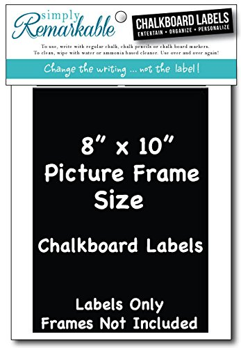 Amazon Picture Frame Size Chalkboard Labels Chalk Stickers