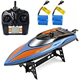 Gizmovine RC Boat Toys, Remote Control Boat for Pools and Lakes 2.4GHz High Speed RC Racing Boats for Adults & Kids + Bonus Battery