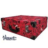 Vincent Nostalgic Master Case Travel Stylist Barber Case, Vintage Red