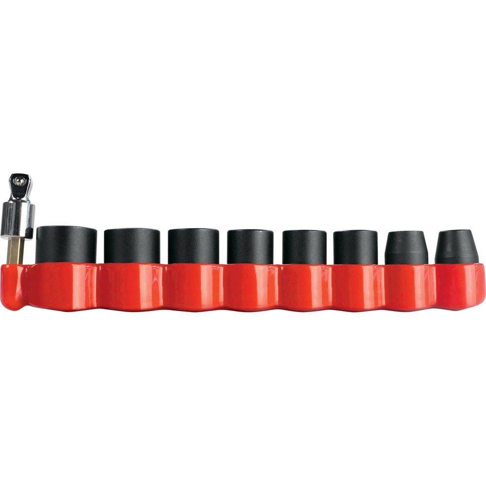 Makita B-49862 Impact GOLD 9 Piece Drive Metric Socket Set with 15Degree Tilt Socket Adapter, 3/8''