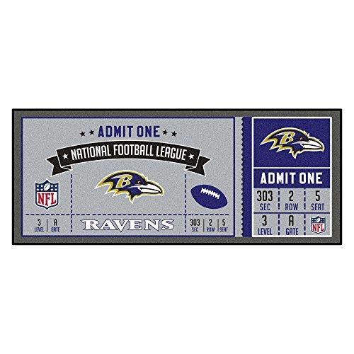FANMATS NFL Baltimore Ravens NFL-Baltimore Ravensticket Runner, Team Color, One Size