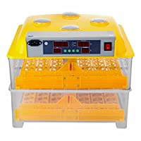 VEVOR Egg Incubator 112 Eggs 2 Layer Automatic Egg Incubator Hatcher Digital Control Panel Egg Incubators with Automatic Egg Turning Chicken (112 Eggs)