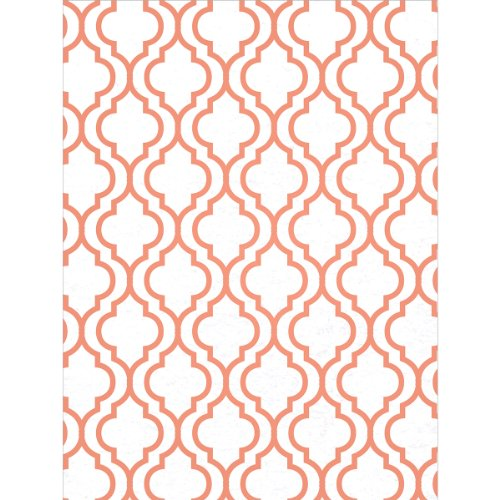 Kunin Fanci Felt Sheet, 9/12-Inch, White with Tangerine Flock, (Foss Felt Sheets)
