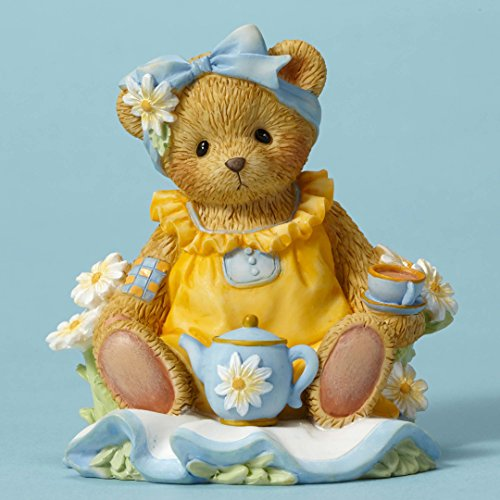Cherished Teddies Flowers and Friends Suit Me to a Tea Bear Figurine CT1603 New