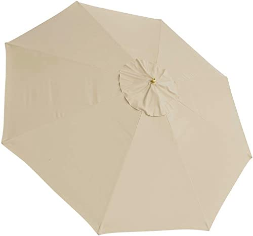 Oversized 13 Feet Diameter Polyester 8-Rib Umbrella Replacement Canopy Avid Apricot