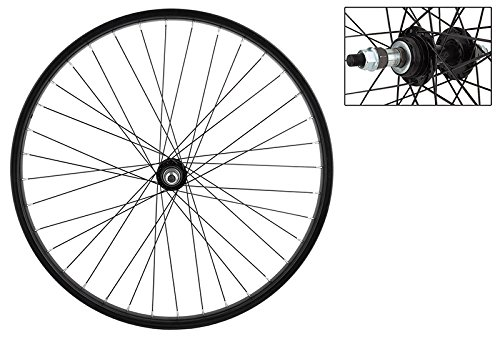 WheelMaster Rear Bicycle Wheel 26 x 1.75/2.125 36H, Steel, Bolt On, Black ()