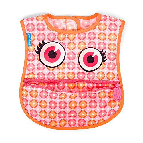 BooginHead Baby Toddler Bib, apron, smock, easy to clean, dining, mealtime, snacktime, art projects, Girl, Dottie, Polka Dots, Pink ()