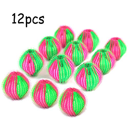 Pet Hair Remover for Laundry - Non-Toxic Reusable Dryer Balls Washer and Dryer Ball Remove Long Hair from Dogs and Cats on Clothes in The Washing Machine 12 Packs ()