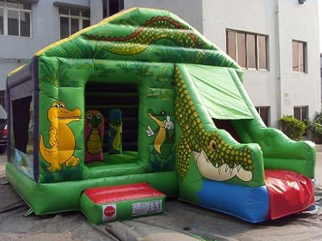 Castillo hinchable cocodrilo: Amazon.es: Juguetes y juegos