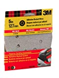 3M 9321NA 5-Inch 8 Hole Dust Free Adhesive Backed Discs, Medium 80 Grit, 5-pack