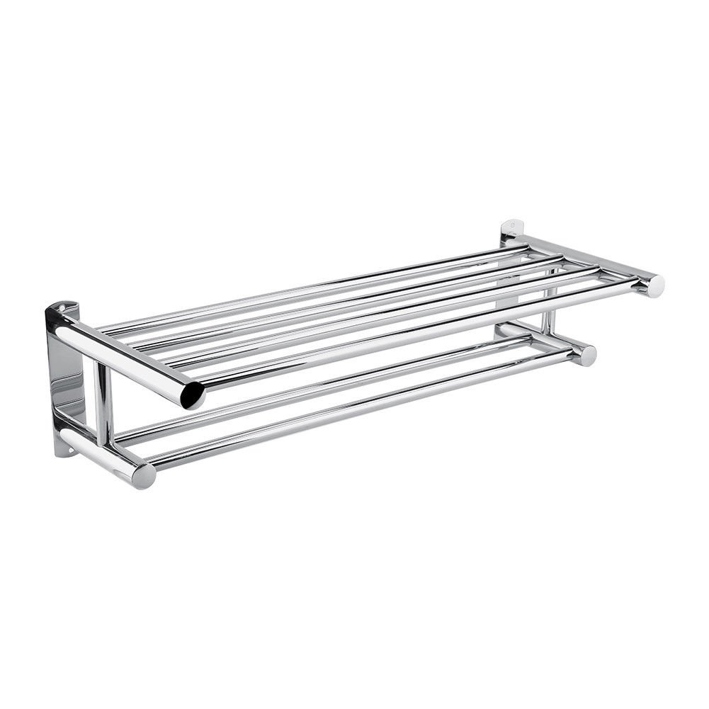 10c7d265c Amazon.com  Good concept Stainless Steel Double Towel Rack Wall Mount  Bathroom Shelf Bar Rail Hotel Style Home  Home   Kitchen