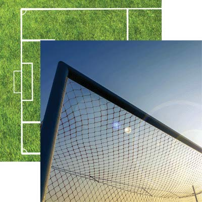 Net - Soccer Collection 2 12x12 Scrapbook Papers - 5 Sheets by Reminisce