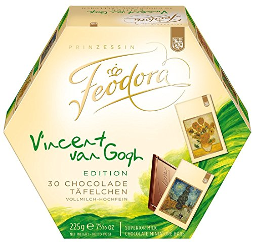 Feodora Chocolate Miniature Bars Superior Milk - Art Edition: Vincent van Gogh (225g)