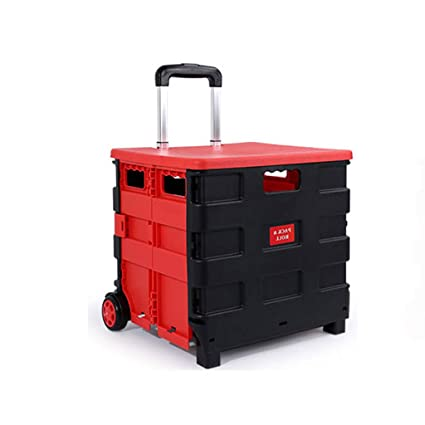 a4accf47b308 Amazon.com: Folding Boot Cart Household Shopping cart Trolley ...