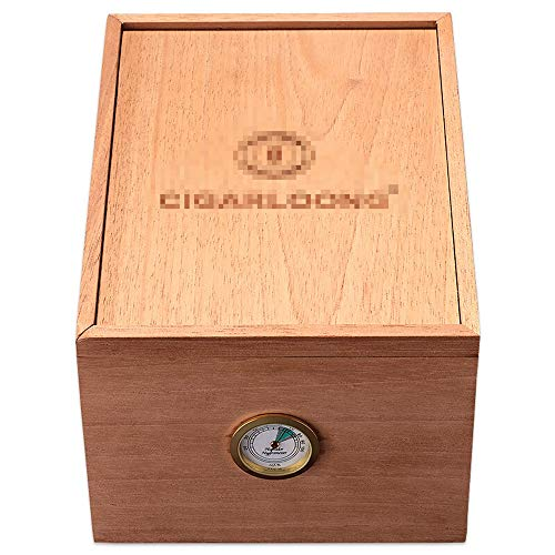 $122.35 cuban crafters humidor Cigar Humidors Cigar Box – Cigar Box Unpainted Mellow Cedar Wood Solid Cigar humidor Box 16 Sticks 2019