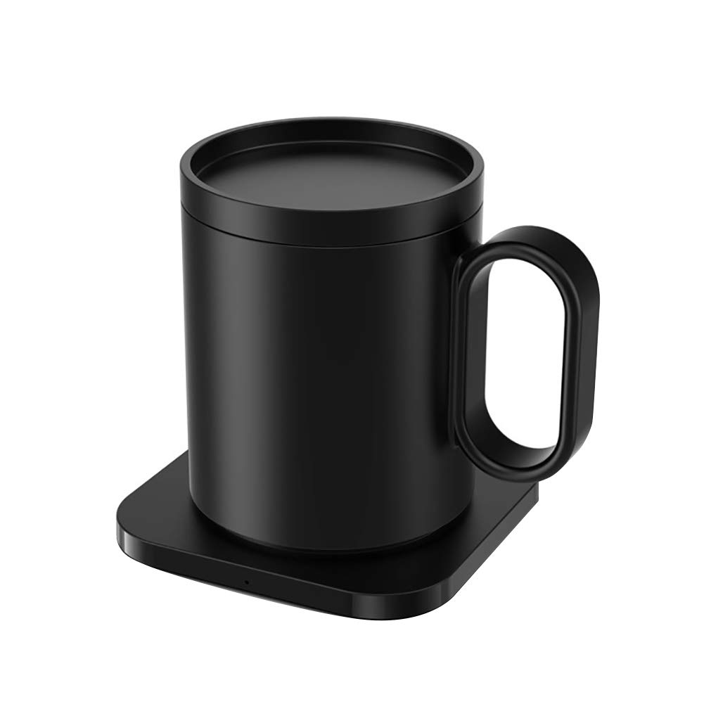 Mug Warmer USB Office Constant Temperature Coffee Wireless Charger Mobile Phone Ceramic Fast Waterproof Home Safe 55 Degree 2 In 1