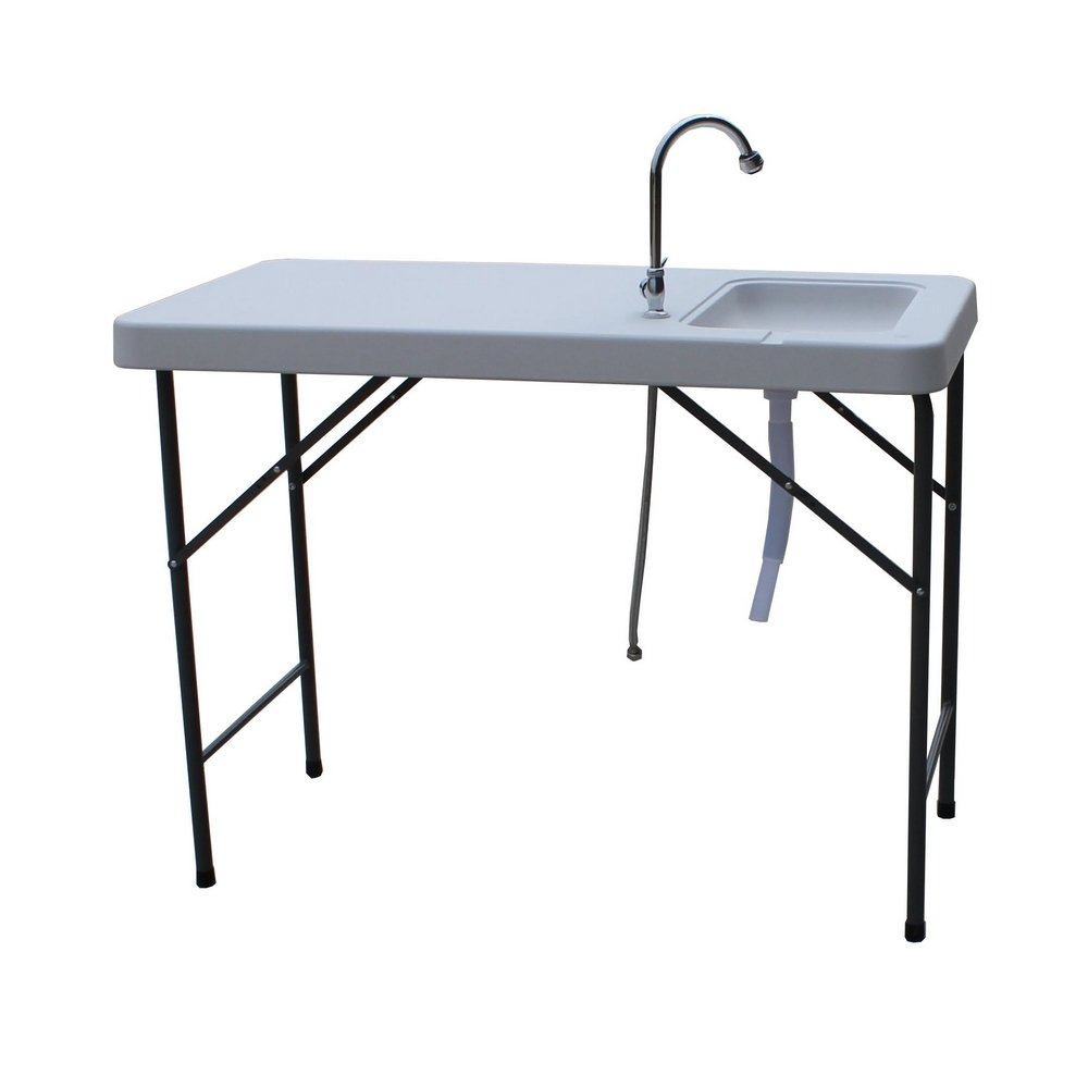 Amazon.com : Palm Springs Folding Portable Fish Fillet Cleaning U0026 Hunting  Table With 1.5 Gal Sink : Folding Patio Tables : Sports U0026 Outdoors