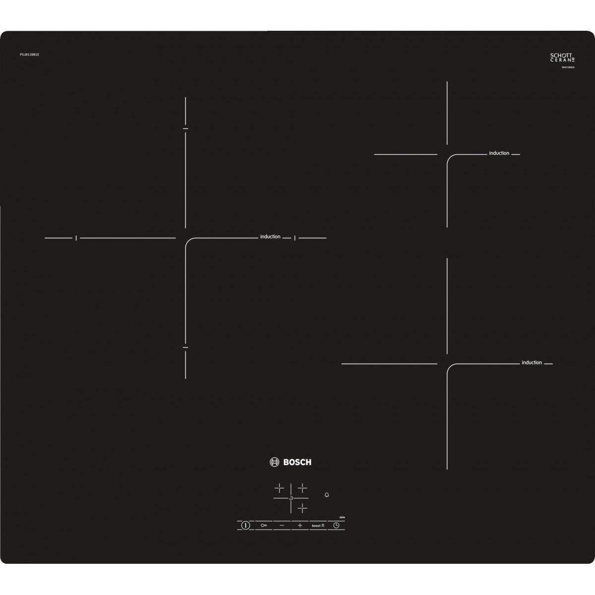 Bosch PUJ611BB1E - Placas de cocina de inducción, negras ...
