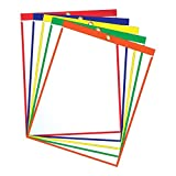 "Job Ticket Holders - 9""x12"" - Pack of 30 (assorted) Top-loading with eyelet for hanging"