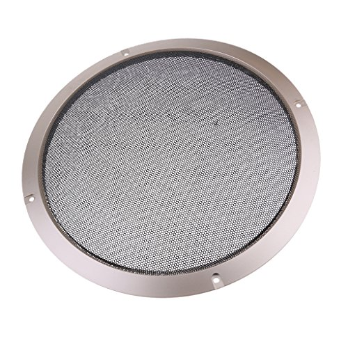 Steel Woofer 10' (Baoblaze 10'' Gold Speaker Decorative Circle SubWoofer Grill Cover Guard Protector Mesh)