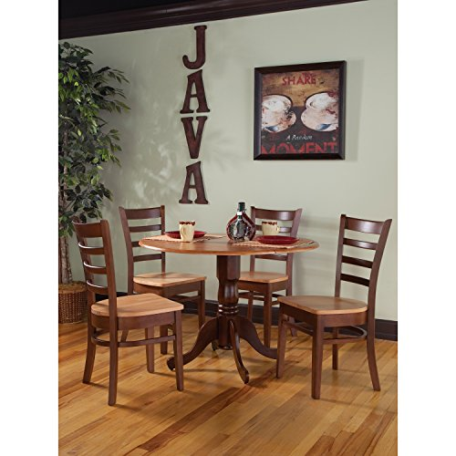 International Concepts 5 Piece Dining Set in Cinnemon and Espresso
