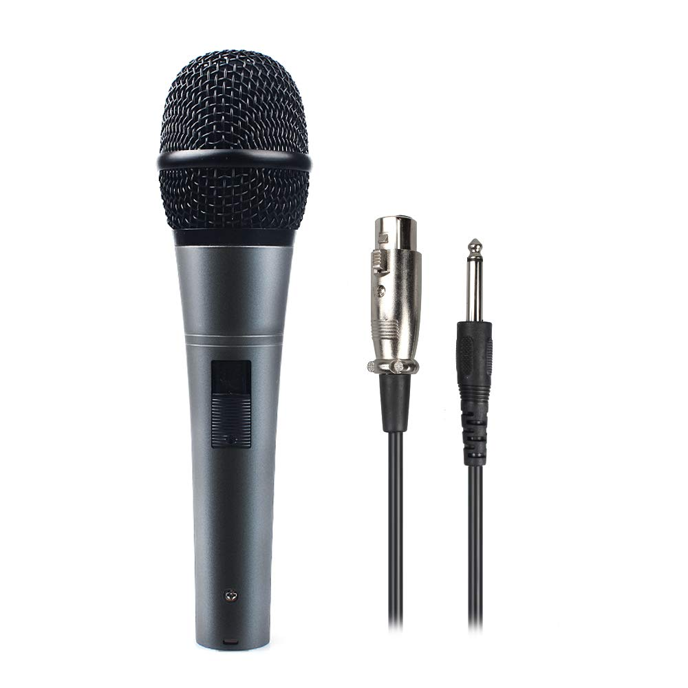 Microphone Professional Dynamic Cardioid Vocal Wired Mic with XLR Cable (19.68ft XLR-to-1/4