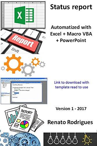 amazon com automatize status report with excel macro powerpoint