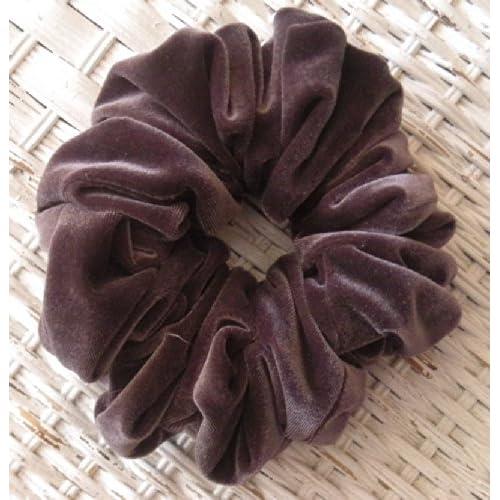 Hot Charcoal velvet Hair Scrunchies Regular - Hair Scrunchies - Charcoal velvet Hair Scrunchi– velvet Charcoal Scrunchies – Hair Scrunchies for Women- Christmas Gift- Made in USA - 6 Mo Warranty